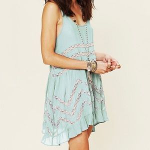 Intimately Free People Voile & Lace Trapeze Slip